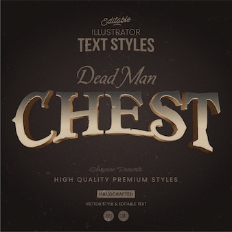 Pirates chest text style