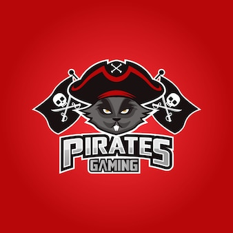 Pirates mascot sport esport logo design