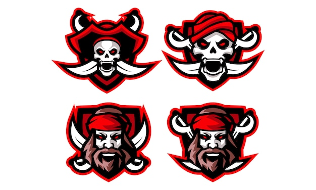 Pirati esports mascot logo collection