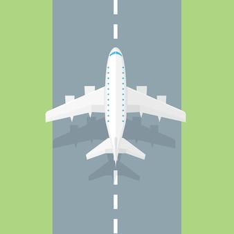 Pista dell'aeroplano. icona alla moda dell'aeroplano