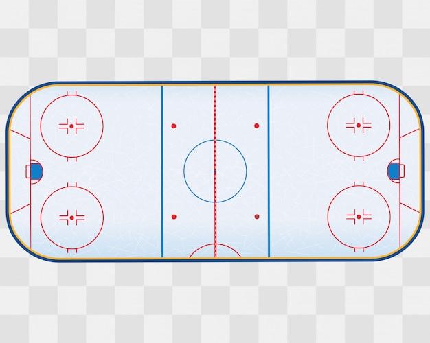 Pista di hockey su ghiaccio nordamericana