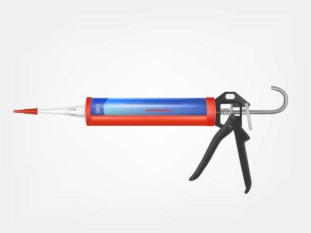 Pistola per silicone, bottiglia metallica con schiuma di costruzione, adesivo sigillante, schiuma