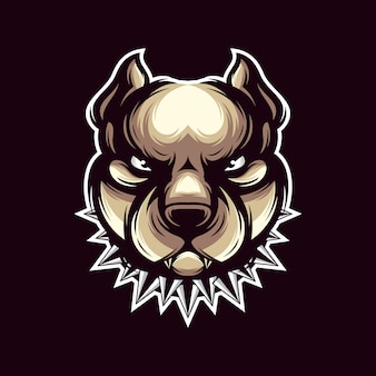 Pit bull logo vettoriale