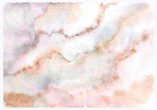 Pittura a mano dell'acquerello del marmo di struttura astratta marrone rosa