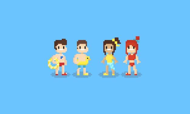 Pixel adolescente con costume da bagno