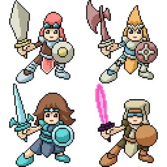 Pixel art kid knight