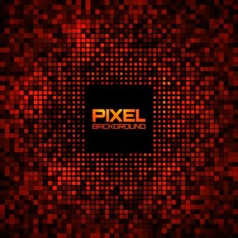 Pixel astratto rosso brillante bagliore sfondo.