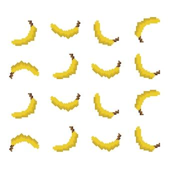 Pixel banana pattern