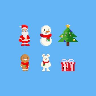 Pixel christmas character.8bit