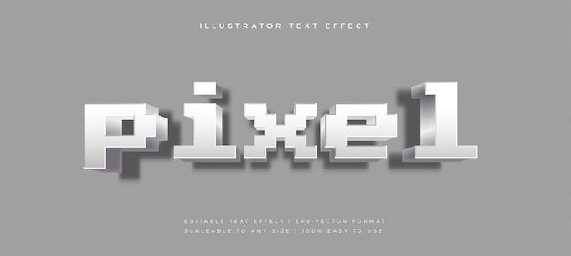 Pixel game playful style style text effect