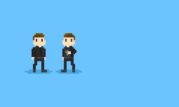 Pixel priest.8bit character.