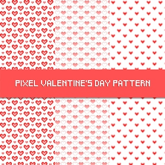 Pixel san valentino pattern