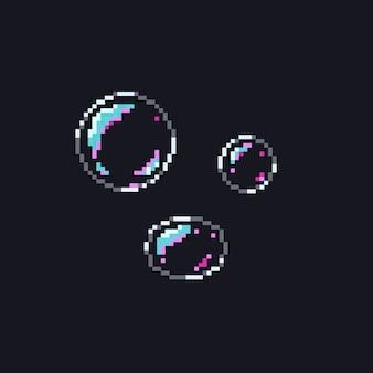 Pixel soap bubbles.8bit.