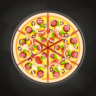Pizza alla lavagna