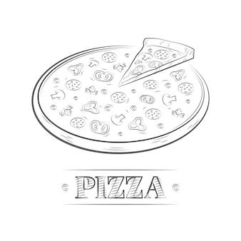 Pizza illustrazione vintage