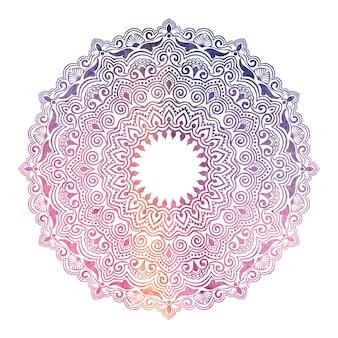 Pizzo rotondo ornamentale con elementi damascati e arabeschi