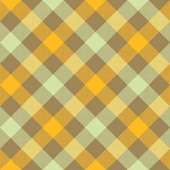 Plaid a scacchi diagonale beige giallo senza cuciture