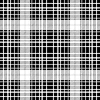 Plaid diagonale bianco e nero senza cuciture