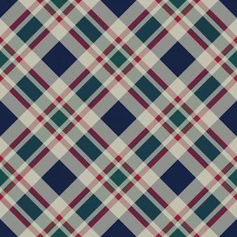 Plaid scozzese classico pixel tessuto trama senza cuciture