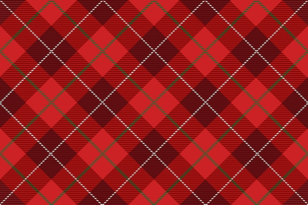 Plaid scozzese senza soluzione di continuità, illustrazione vettoriale. ripetibile orizzontalmente e verticalmente.