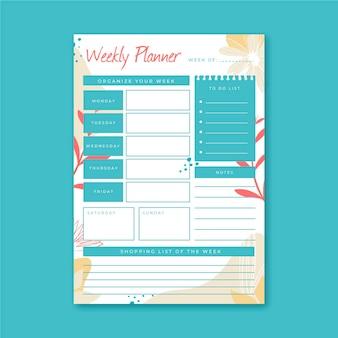 Planner settimanale modello