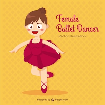 Poco danzatore di balletto in stile cartone animato