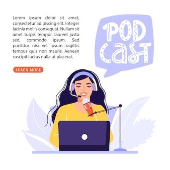 Podcast o concetto di intervista.
