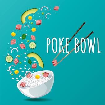 Poke hawaiian tuna bowl