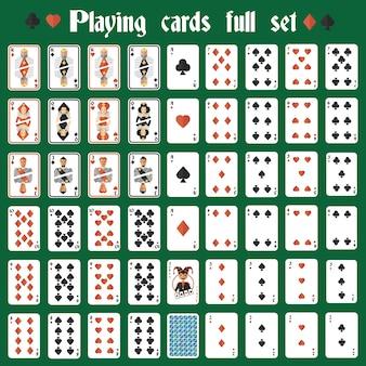 Poker carte di raccolta icone