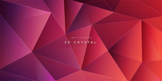 Poligono astratto 3d crystal shape background