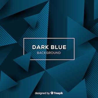 Poligono tridimensionale sfondo blu scuro