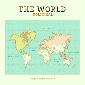 Political mappa del mondo