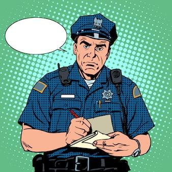 Poliziotto arrabbiato