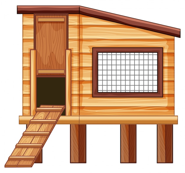 Pollaio in legno