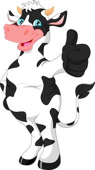Pollice di mucca carino cartone animato