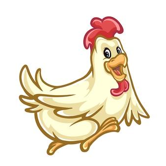 Pollo felice disegno mascotte