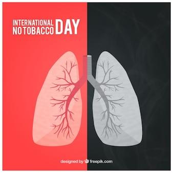 Polmoni con il fumo di sfondo