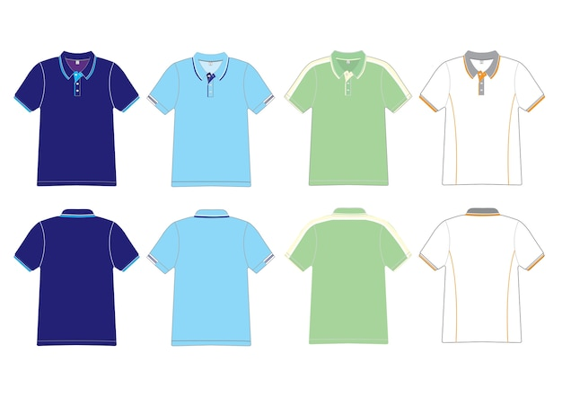 Polo design vettoriale