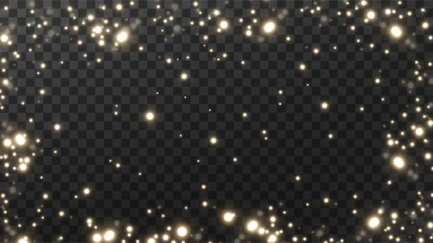 Polvere magica scintillante sfondo nero strutturale.