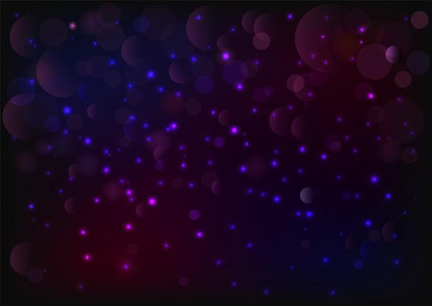 Polvere. particelle di polvere magica scintillante. concetto magico. glitter astratto. particelle di glitter e luci accese