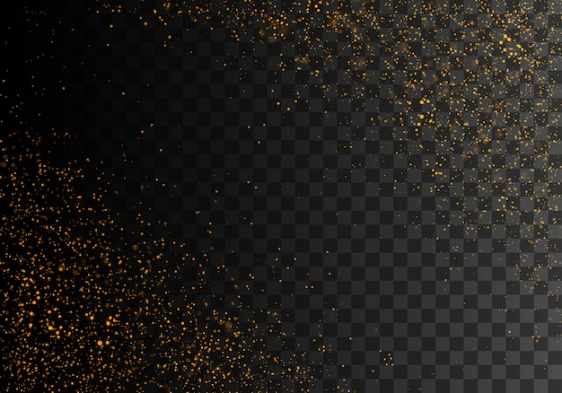Polvere scintillante dorata