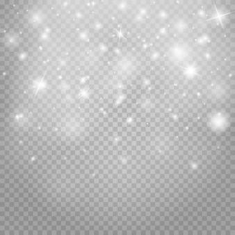 Polvere spaziale su uno sfondo trasparente