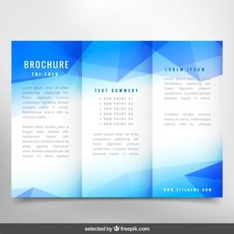 Polygonal brochure blu