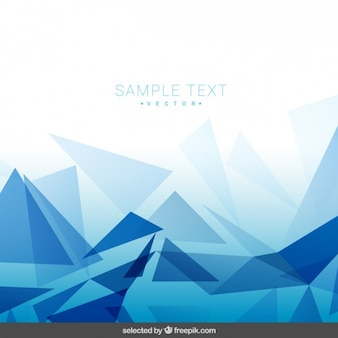 Polygonal sfondo blu