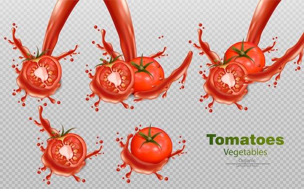 Pomodori con effetti splash