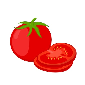Pomodori rossi e fette