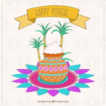 Pongal carta indiano