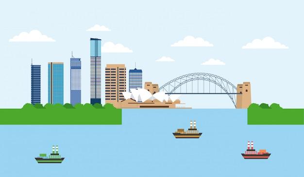 Ponticello del porto dell'australia sydney