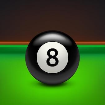 Pool nero otto sul tavolo