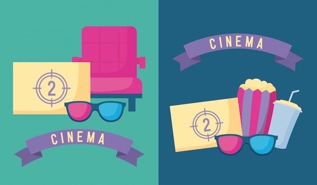 Popcorn con set di cinema